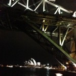 Sydney Harbour Bridge et Opera House de nuit